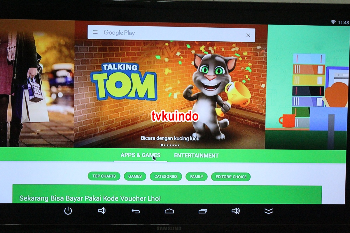 cara memasang android tv box  ke tv