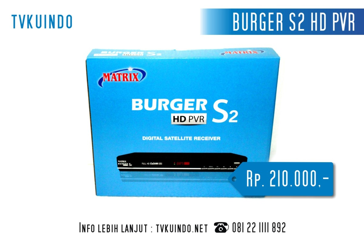 software powervu burger s2 hd pvr | TVKUINDO 085 70 22 11 11 8