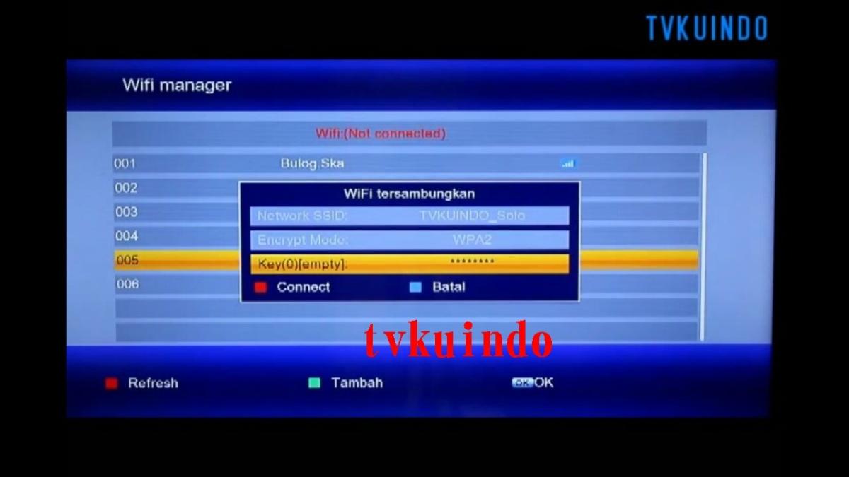 Cara Mengkonesikan Wifi di Matrix Burger S2