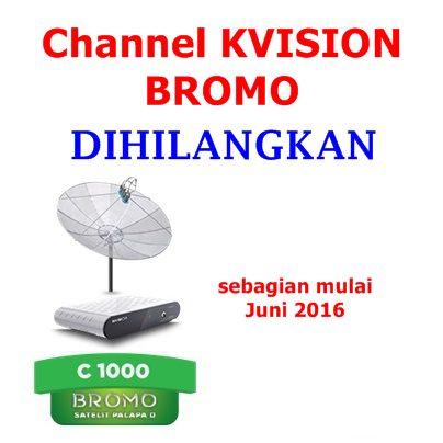 channel kvision bromo dihilangkan mulai juni 2016
