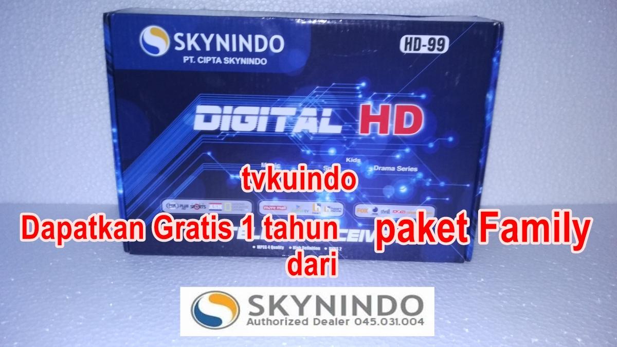 Pilihan Paket Dan Promo Skynindo 1 Tahun Family Tvkuindo 085 70 22 Parabola K Vision Ku Band C 11 8