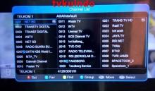 channel di  satelit palap Telkom