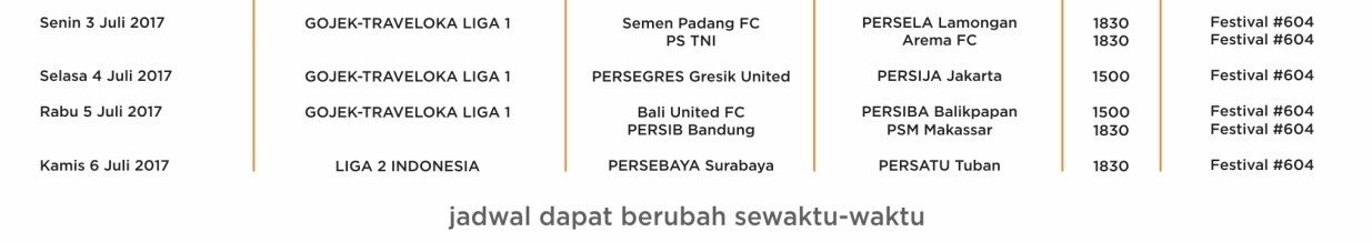 jadwal liga bola di Orange tv juli 2017